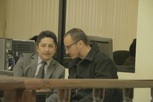 El abogado de Marroquín dijo desconocer los detalles de los hechos que se pretenden imputar a su cliente, por lo que pidió que la audiencia fuera aplazada. (Foto: Soy502)
