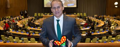 El reconocimiento a Cementos Progreso fue entregado en Nueva York el 1 de diciembre, lugar donde se llevó a cabo la Cumbre de Impacto Latino. (Foto: NewsInamerica)