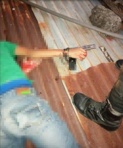 El enfrentamiento entre la PNC dejó un pandillero. (Foto: redes sociales)