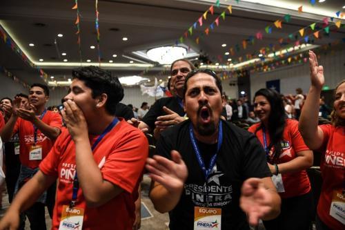 Euforia entre los simpatizantes de Piñera. (Foto: AFP)
