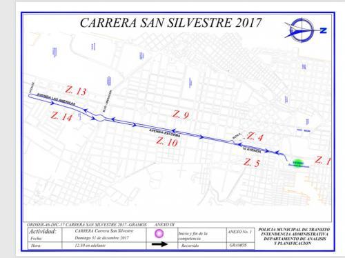 Este será el recorrido de la San Silvestre. (Foto: Amilcar Montejo/PMT)