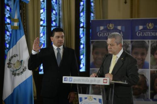 Monterrosa fue juramentado en el Palacio Nacional. (Foto: Wilder López/Soy502)