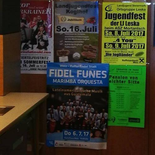 Así anunciaron el concierto los músicos guatemaltecos. (Foto: Fidel Funes y su Marimba Orquesta oficial)