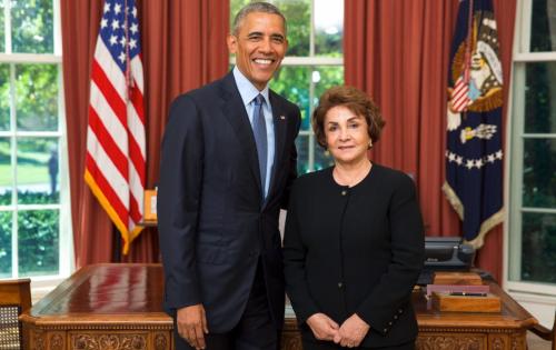 La embajadora entregó sus cartas credenciales al expresidente Barack Obama. (Foto: Facebook)