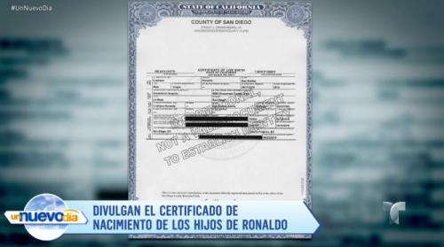 Así luce el documento de nacimiento de los niños. (Foto: captura de pantalla)