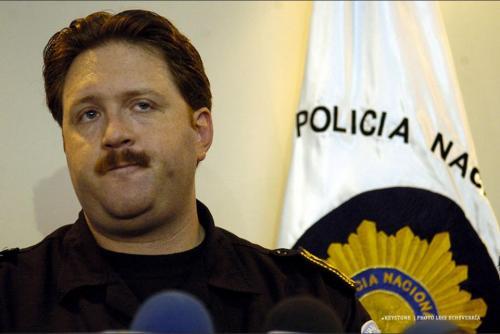 Sperisen en conferencia de prensa cuando era director de la PNC. (Foto: Archivo/Soy502)