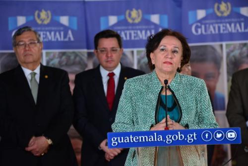 La jefa de la PGN participó en la conferencia posterior a la reunión del Consejo Nacional de Administración de Bienes en Extinción de Dominio. (Foto: Jesús Alfonso/Soy502)