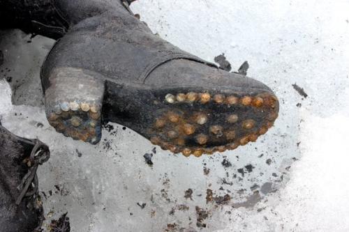 Detalle del calzado de Marceline. (Foto: Infobae)