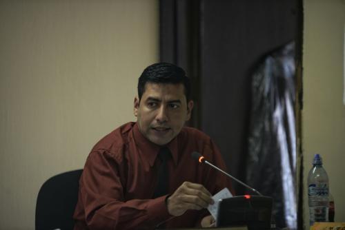 El juez Cuarto de Primera Instancia Penal, Carlos Guerra, resolvió que Marixa Lemus debe enfrentar juicio. (Foto: Wilder López/Soy502)