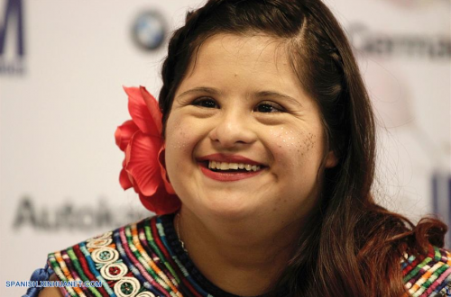 Isabella Springmühl sonríe durante su entrevista en Guadalajara. (Foto: Xinhua/Bernardette Gómez)