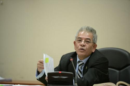 El juez Miguel Ángel Gálvez empezó la audiencia de etapa intermedia del caso La Línea. (Foto: Wilder López/Soy502)