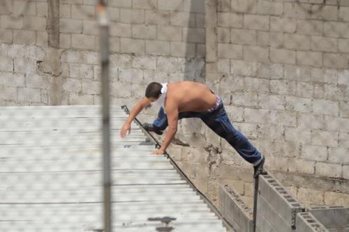 Los adolescentes se saltaron el muro para escapar del recinto. (Foto: René Ruano/Nuestro Diario)