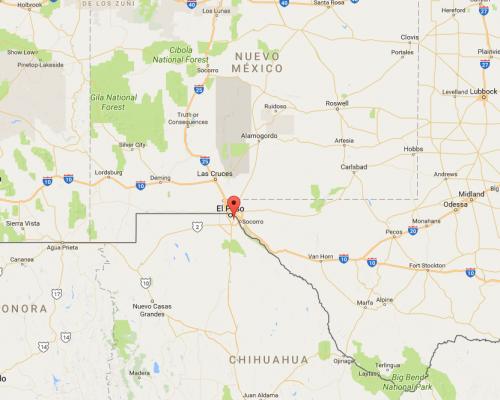 Mapa de la frontera en Juárez-El Paso. (Foto: Google)