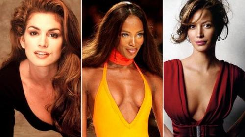 Cindy Crawford, Naomi Campbell y Christy Turlington.