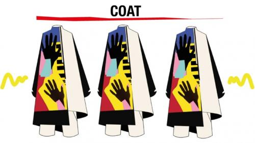 El abrigo posee hermosos estampados hechos por las creadoras. (Foto: Societas)