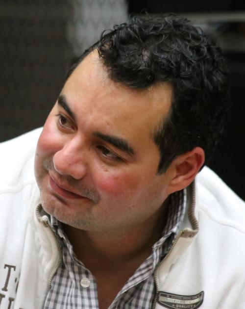 Juan Sebastián Palomo Murga en una imagen de archivo en una de las audiencias del caso de corrupción en Antigua Guatemala. (Foto: Nuestro Diario)