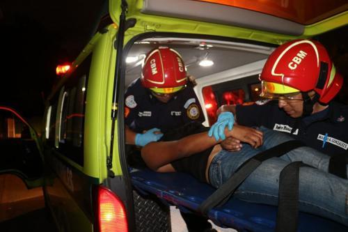 Seis personas resultaron heridas producto del ataque armado. (Foto: Bomberos Municipales)