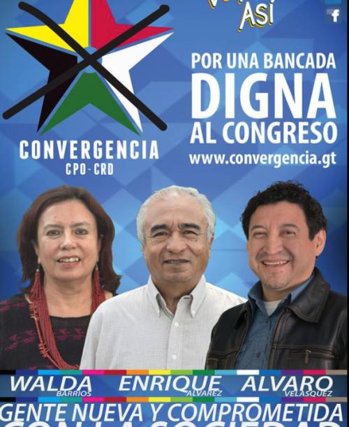Enrique Álvarez (centro) asumirá en lugar de Álvaro Velásquez. (Foto: Convergencia)