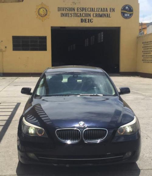 El vehículo fue identificado por su número de chasís. (Foto: PNC)