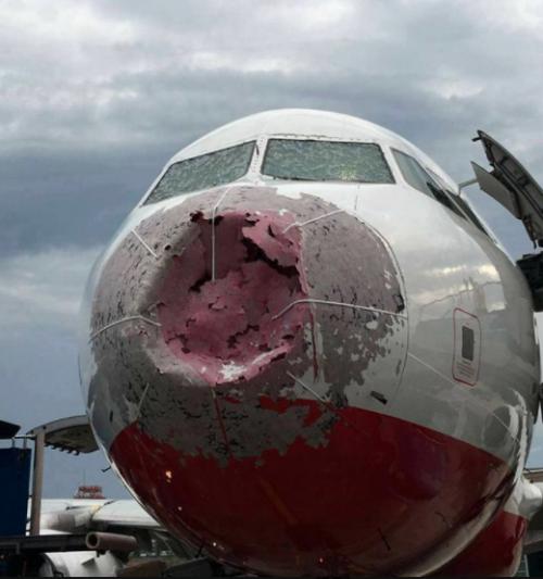 Así quedó el avión. (Foto: Facebook / Evgeniy Chursin)