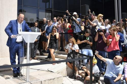 Cristiano Ronaldo ofrecería una conferencia de prensa al salir del juzgado, sin embargo no asistió. (Foto: AFP)