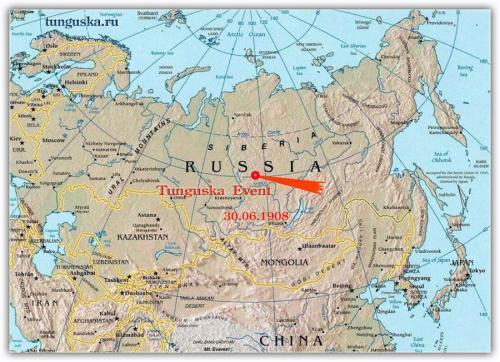 Esta es la ubicación de Tunguska. (Mapa: Cortesía Edgar Castro Bathen)