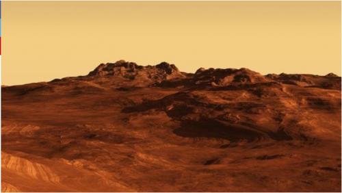 La imagen de esta agujero se obtuvo gracias al Mars Reconnaissance Orbiter (MRO). (Foto: Infobae)