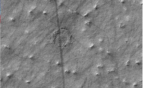 El agujero podría ser consecuencia del impacto de un meteorito. (Foto: Infobae)