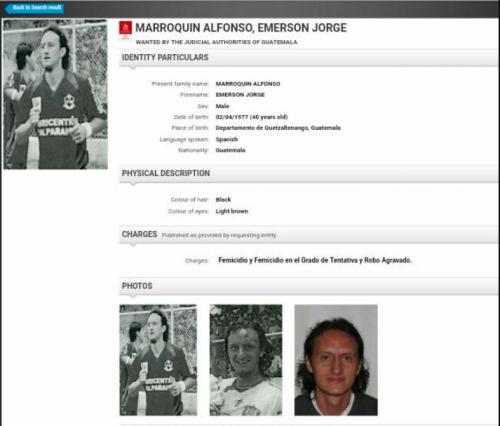 Marroquín tenía alerta roja de la Interpol. (Foto: Interpol)