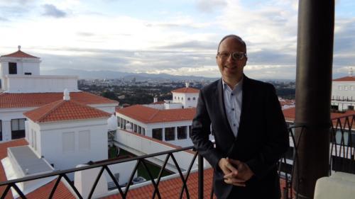 Benoit Racle, Global Brand Leader de AC Hotels, estuvo en el país para asegurar la calidad mundial de la apertura en Paseo Cayalá. (Foto: Magui Medina/Soy502)