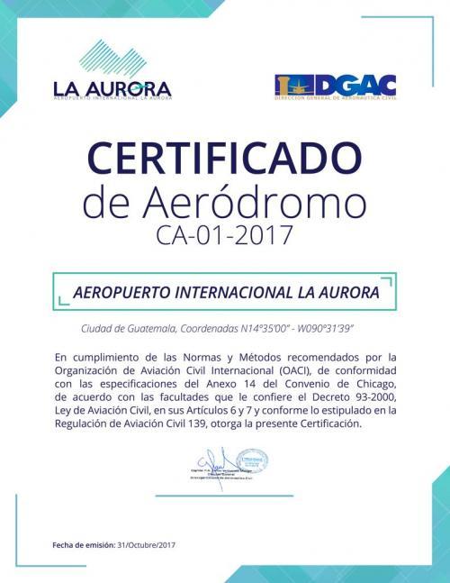 Este es el certificado entregado por la Dirección General de Aeronáutica Civil, en ninguna parte aparece firmado por un representante OICI. (Foto DGAC)