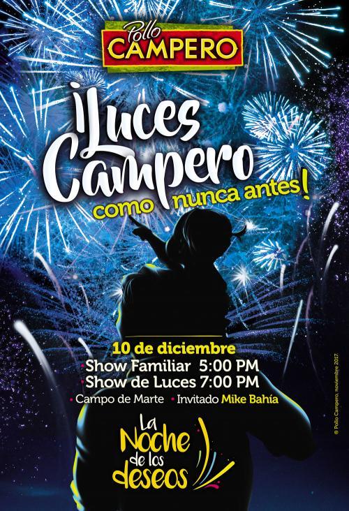 Línea gráfica utilizada para la campaña de este 2017 en el Show de Luces Campero.