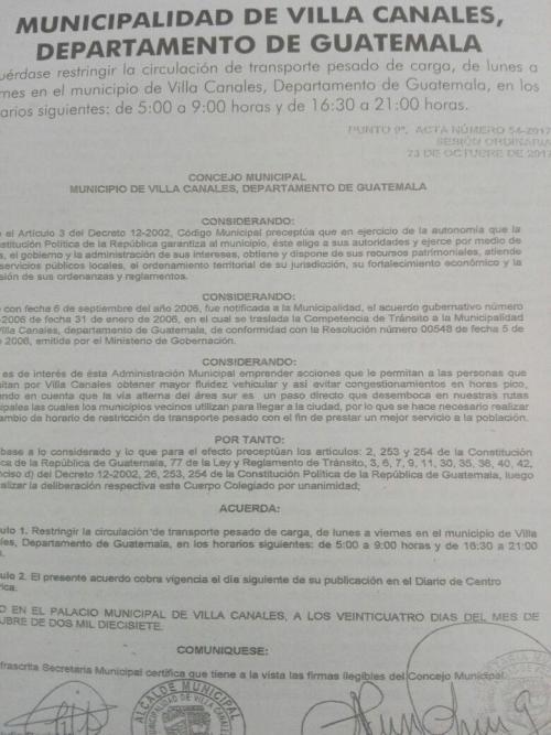 Esta es la publicación de la Municipalidad de Villa Canales. (Foto: Soy502)