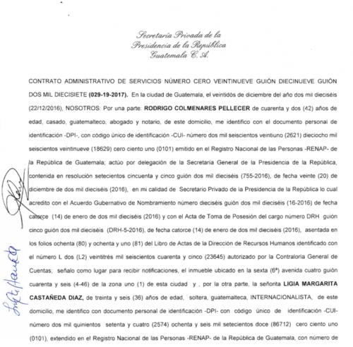 Resolución de la Secretaría Privada. (Foto: Guatecompras)