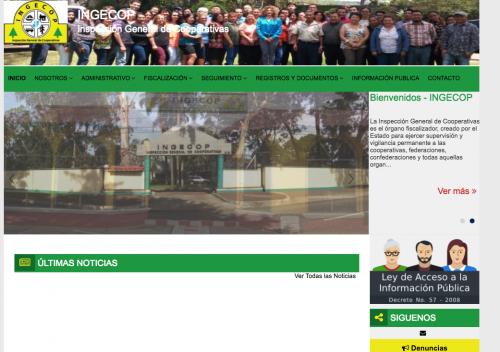 Portal web de la institución. (Foto: Ingecop)