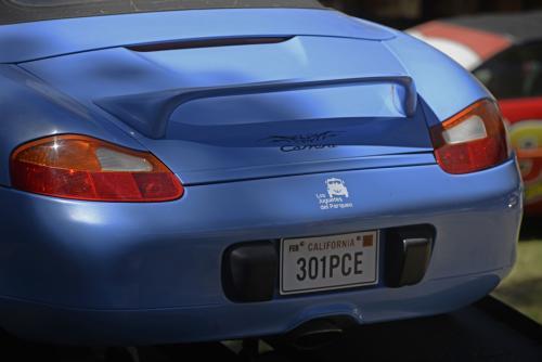 El Porsche Carrera tiene el tatuaje que figura en la película. (Foto: Wilder López/Soy502)