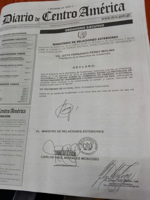 Este fue el acuerdo publicado este jueves. (Foto: Soy502)