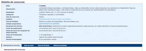 La licitación pública se lanzó este jueves. (Foto: Guatecompras)