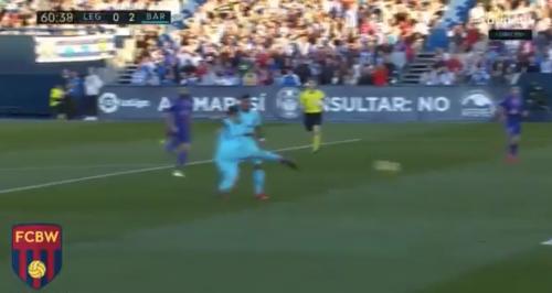 Suárez contribuyó con su volea a ampliar la ventaja en el marcador. (Foto: Twitter)