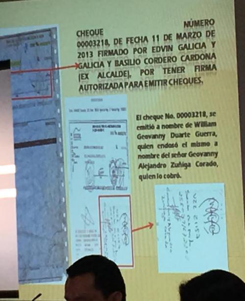 Duarte habría girado una factura falsa para justificar el cheque que recibió de la Municipalidad de Jutiapa. (Foto: Soy502)