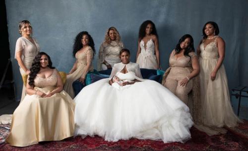 Los vestidos de las damas fueron hechos por Galia Lahav. (Foto: Vogue)