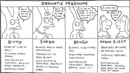 Personajes de Life in Hell. (Foto: Gizmodo)