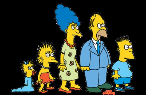 Los Simpson al inicio de la serie. (Foto: Gizmodo)
