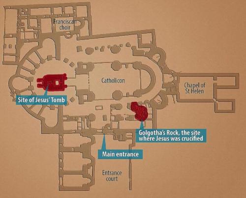 El templo alberga la tumba de Jesús y el Gólgota (el sitio donde fue crucificado). (Foto: Infobae)