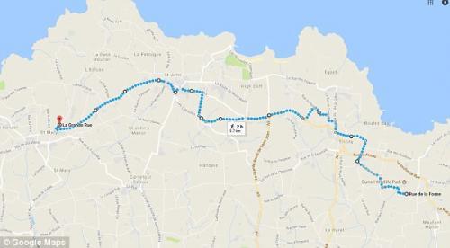 Esta es la distancia que Freddie la tortuga recorrió en busca del amor de Astrid. (Foto: Google Maps)