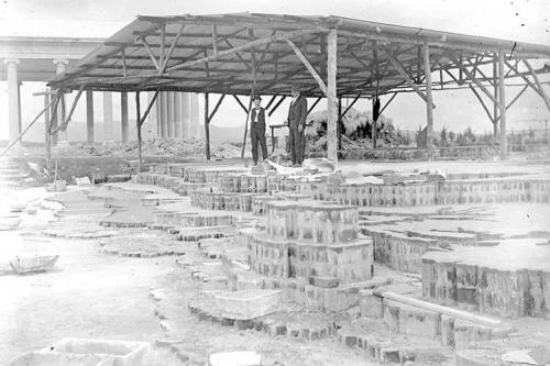 Durante la construcción del Mapa en Relieve, a la par de esta obra se encontraba el Templo Minerva, donde se celebraban las Fiestas Minervalias. (Foto: archivo)