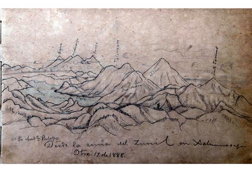 Este es uno de los dibujos del Mapa en Relieve. (Foto: archivo/UFM)