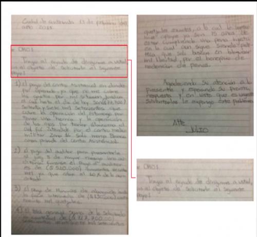 Esta es la carta que Lima habría escrito al alcalde Arzú para exigirle más de medio millón de quetzales. (Foto: MP).