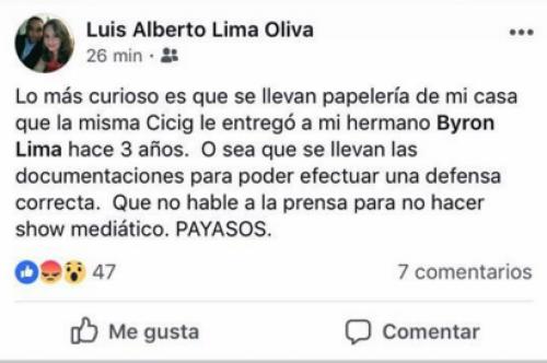 Esta fue la primera publicación del día de Lima.