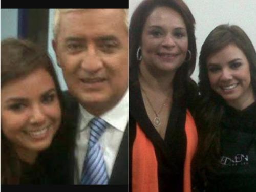 Alejandra Reyes junto a los exgobernantes Otto Pérez y Roxana Baldetti.